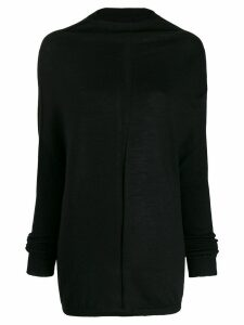 Rick Owens draped jumper - Black