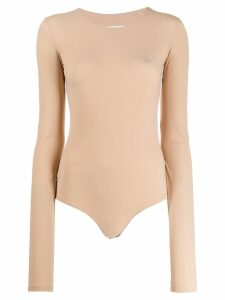 Mm6 Maison Margiela long-sleeved body - Neutrals