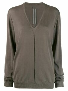 Rick Owens V-neck jumper - Grey