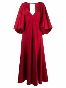 Khaite puff sleeve evening dress - Red