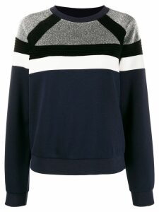 Sandro Paris colour block sweatshirt - Blue