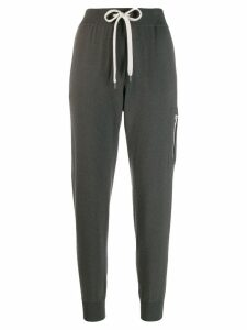 Brunello Cucinelli knitted track pants - Grey