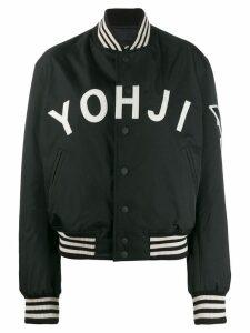 Y-3 logo varsity jacket - Black