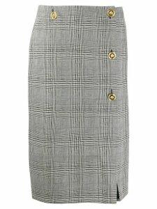Versace checked pencil skirt - Black