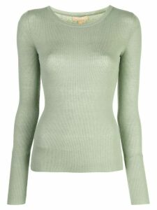 Michael Kors round neck ribbed jumper - Green