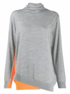 Dorothee Schumacher contrast panel asymmetric sweater - Grey