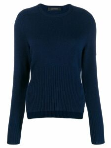 Cédric Charlier side slit jumper - Blue