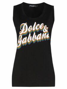 Dolce & Gabbana logo print vest top - Black