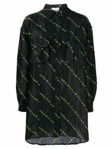 GANNI flower print shirt - Black