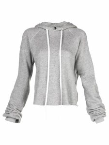 Unravel drawstring hooded sweater - Grey