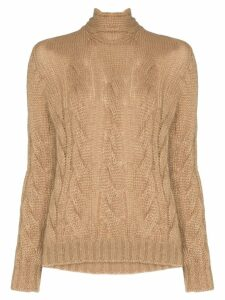 Prada tie-back cable-knit sweater - Brown
