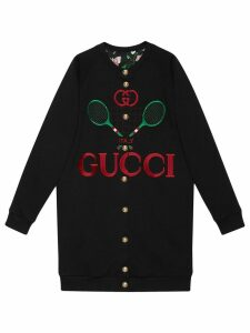 Gucci reversible oversize cardigan sweatshirt - Black
