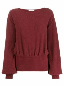Société Anonyme balloon sleeve jumper - Red