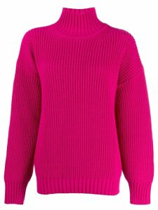 MSGM chunky knit turtleneck jumper - Pink
