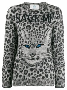 Alberta Ferretti animal print jumper - Grey