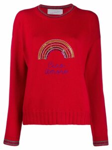 Giada Benincasa rainbow embellished sweater - Red