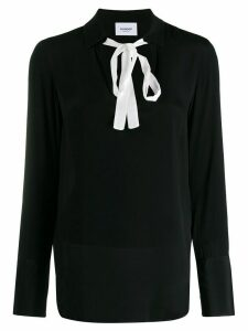 Dondup two-tone blouse - Black