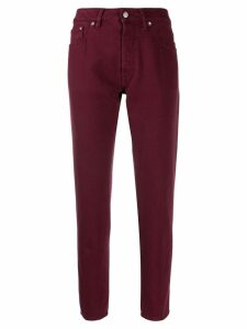 Golden Goose cropped straight leg jeans - Red