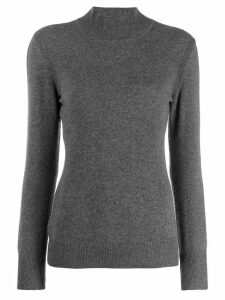 Alberta Ferretti funnel neck jumper - Grey