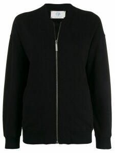 Alberta Ferretti Love Me print zipped sweatshirt - Black