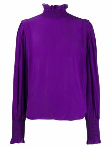Isabel Marant Étoile high neck gathered blouse - Purple