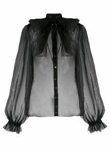 Dolce & Gabbana lace up bow blouse - Black