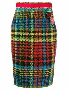 Cavalli Class tartan pencil skirt - Black