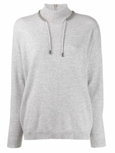 Brunello Cucinelli drawstring jumper - Grey