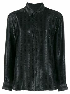 Saint Laurent shimmer panel shirt - Black