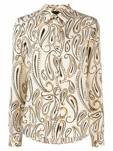 Aspesi paisley print silk shirt - NEUTRALS