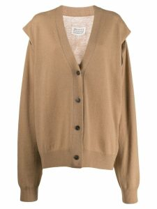 Maison Margiela oversized cardigan - Brown