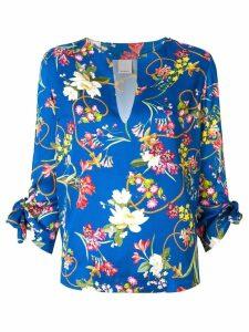 Pinko floral print blouse - Blue