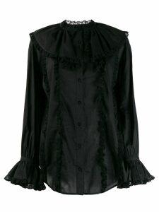 See by Chloé ruffle lace trim shirt - Black