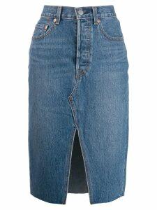 Levi's front slit denim skirt - Blue