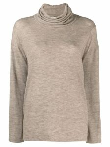 The Row Zalani turtleneck sweater - NEUTRALS
