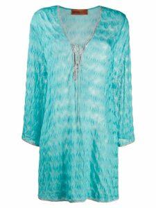 Missoni Mare V-neck dress - Blue