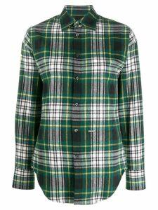 Dsquared2 fleece check shirt - Green