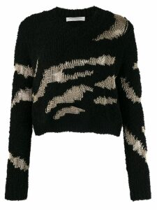 Philosophy Di Lorenzo Serafini textured cropped jumper - Black