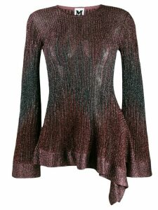 M Missoni long-sleeve embroidered top - Brown