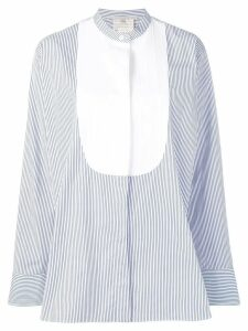 Stella McCartney striped contrast panel shirt - White