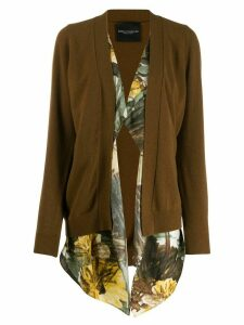 Erika Cavallini open front cardigan - Brown