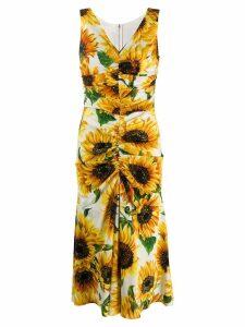 Dolce & Gabbana sunflower print dress - White