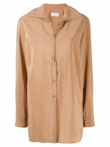 Lemaire zipped shirt - Neutrals