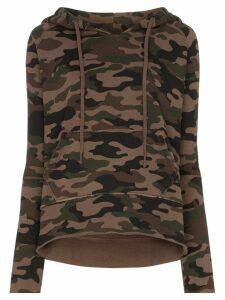 Nili Lotan Janie camouflage-print hoodie - Brown