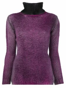 Avant Toi ribbed turtle neck sweater - Purple