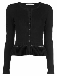 Jason Wu Collection ribbed detail cardigan - Black