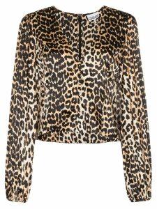 GANNI leopard print villa - Brown