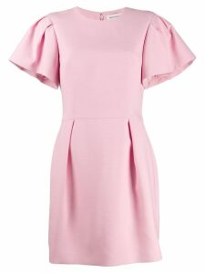 Alexander McQueen ruched sleeve mini dress - PINK
