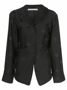 Alexander Wang logo embroidered blouse - Black