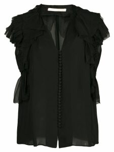 Jason Wu Collection ruffle sleeve button blouse - Black